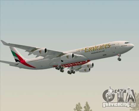 Airbus A340-313 Emirates для GTA San Andreas вид сбоку