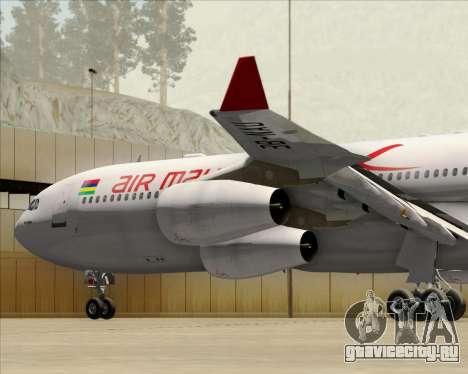 Airbus A340-312 Air Mauritius для GTA San Andreas двигатель