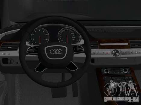 Audi A8 2010 W12 Rim1 для GTA Vice City вид сзади
