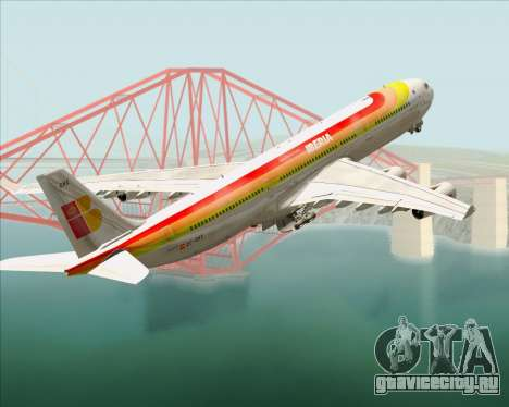 Airbus A340 -313 Iberia для GTA San Andreas колёса