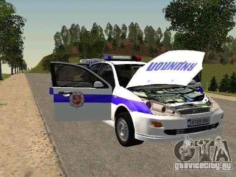 Ford Focus Полиция Нижегородской области для GTA San Andreas вид изнутри