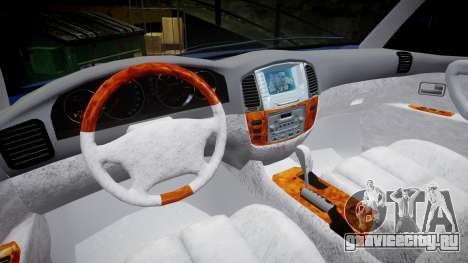 Toyota Land Cruiser для GTA 4 вид сзади