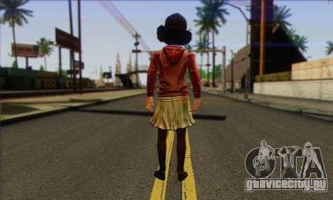 Klementine from Walking Dead для GTA San Andreas второй скриншот