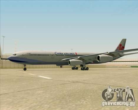 Airbus A340-313 China Airlines для GTA San Andreas вид снизу