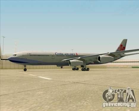 Airbus A340-313 China Airlines для GTA San Andreas вид снизу