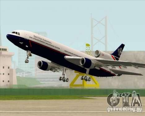 Lockheed L-1011 TriStar British Airways для GTA San Andreas вид снизу