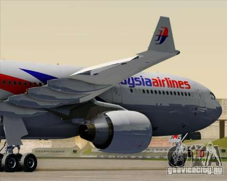 Airbus A330-323 Malaysia Airlines для GTA San Andreas салон