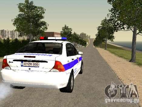Ford Focus Полиция Нижегородской области для GTA San Andreas вид справа