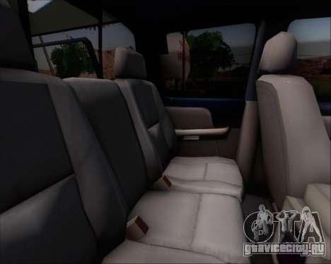 Chevrolet Silverado Gope для GTA San Andreas вид сзади