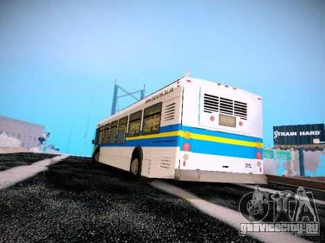 NewFlyer D40LF TransLink Vancouver BC для GTA San Andreas вид сзади слева