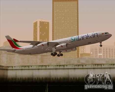 Airbus A340-313 SriLankan Airlines для GTA San Andreas двигатель