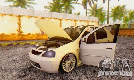 Dacia Logan ZYCU для GTA San Andreas вид сзади