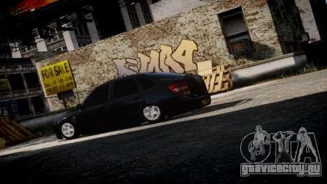 Lada Granta для GTA 4 вид справа