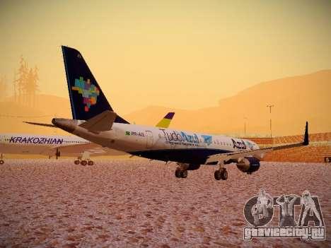 Embraer E190 Azul Tudo Azul для GTA San Andreas вид справа
