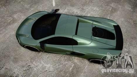 McLaren 650S Spider 2014 [EPM] Continental для GTA 4 вид справа