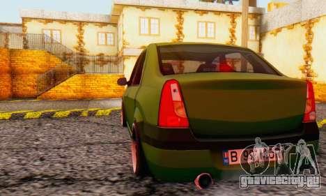 Dacia Logan MOR для GTA San Andreas вид справа