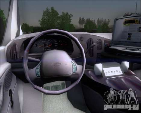 Ford E-150 Labocar для GTA San Andreas вид изнутри