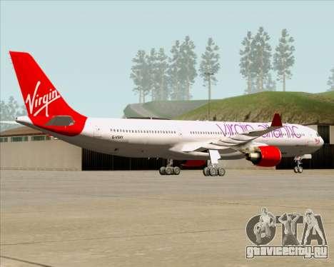 Airbus A330-300 Virgin Atlantic Airways для GTA San Andreas вид сзади
