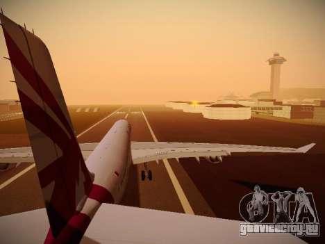 Airbus A340-600 Qatar Airways для GTA San Andreas двигатель