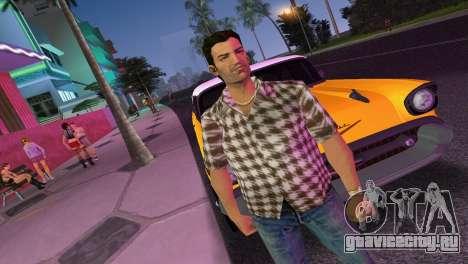 Kockas polo - barna T-Shirt для GTA Vice City второй скриншот