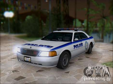 Admiral Police для GTA San Andreas вид сзади слева