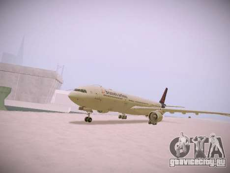 Airbus A330-300 Brussels Airlines для GTA San Andreas вид слева