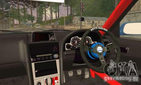 Nissan Skyline GTR34 для GTA San Andreas вид сзади слева