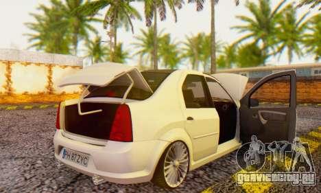 Dacia Logan ZYCU для GTA San Andreas вид справа