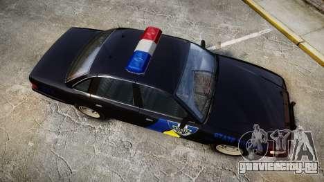 Vapid Police Cruiser LSPD Generation [ELS] для GTA 4 вид справа