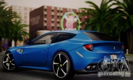 Ferrari FF 2012 для GTA San Andreas вид сзади слева