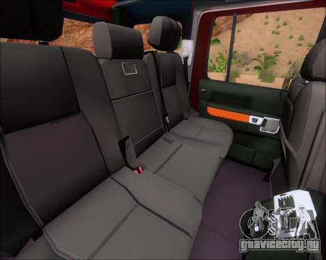 Land Rover Discovery 4 для GTA San Andreas салон