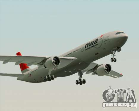Airbus A330-300 Northwest Airlines для GTA San Andreas вид слева