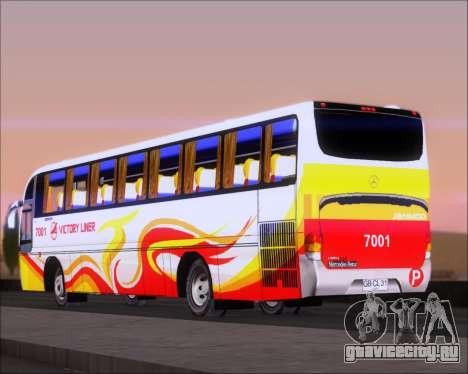 Marcopolo Victory Liner 7001 для GTA San Andreas вид сзади слева