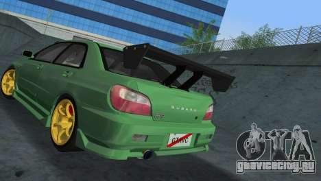 Subaru Impreza WRX 2002 Type 3 для GTA Vice City вид сзади