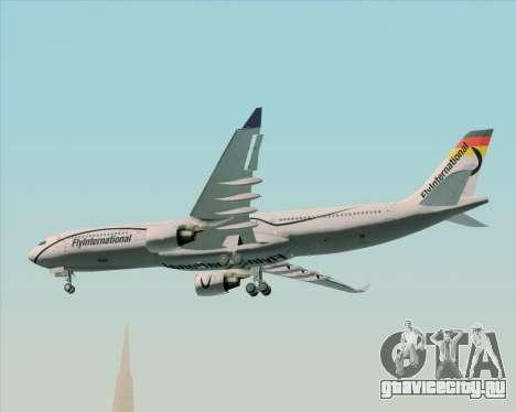 Airbus A330-300 Fly International для GTA San Andreas вид изнутри