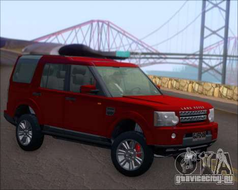 Land Rover Discovery 4 для GTA San Andreas вид справа