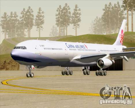Airbus A340-313 China Airlines для GTA San Andreas вид слева