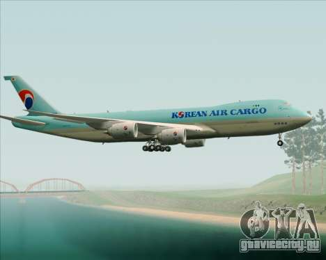 Boeing 747-8 Cargo Korean Air Cargo для GTA San Andreas вид сбоку