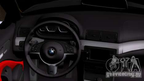 BMW M3 E46 Cabrio для GTA San Andreas вид сзади слева