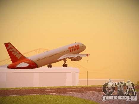 Airbus A320-214 TAM Airlines для GTA San Andreas вид сзади