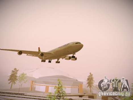 Airbus A340-300 South African Airways для GTA San Andreas вид справа