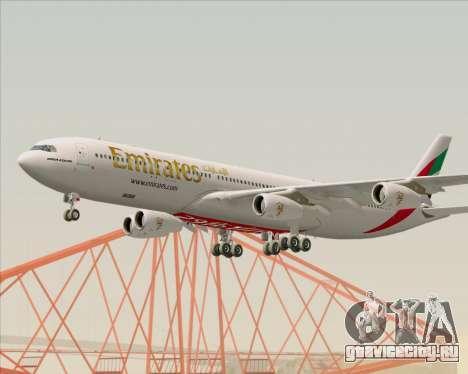 Airbus A340-313 Emirates для GTA San Andreas вид изнутри