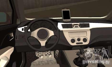 Mitsubishi Lancer Evo 8 для GTA San Andreas вид сзади слева