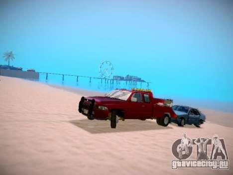 Dodge Ram Tow-Truck для GTA San Andreas вид сзади