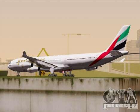 Airbus A340-313 Emirates для GTA San Andreas вид справа