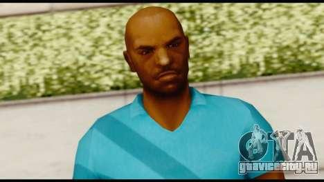 Blue Shirt Vic для GTA San Andreas третий скриншот