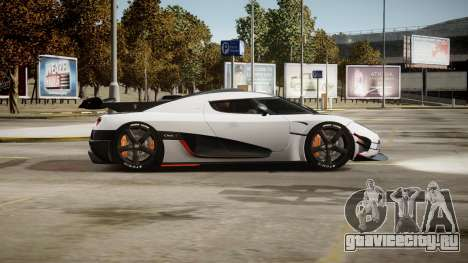 Koenigsegg Agera One:1 air core для GTA 4 вид изнутри