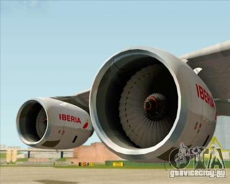 Airbus A340-642 Iberia Airlines для GTA San Andreas вид сбоку