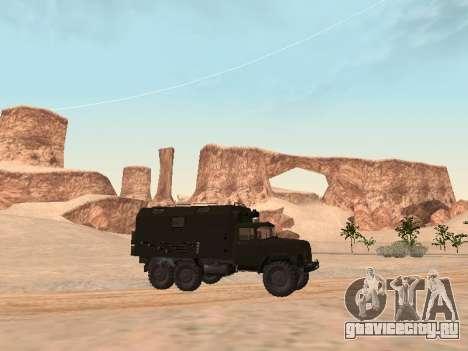 ЗиЛ 131 Кунг для GTA San Andreas вид сзади слева