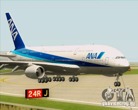 Airbus A380-800 All Nippon Airways (ANA) для GTA San Andreas вид слева